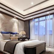 别墅简约风格卧室飘窗装饰
