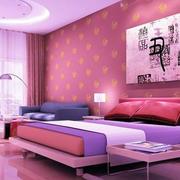 现代简约风格粉色系壁纸装饰