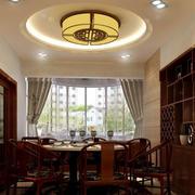 中式简约风格原木吊顶装饰