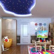 美式简约风格儿童房木制置物架装饰