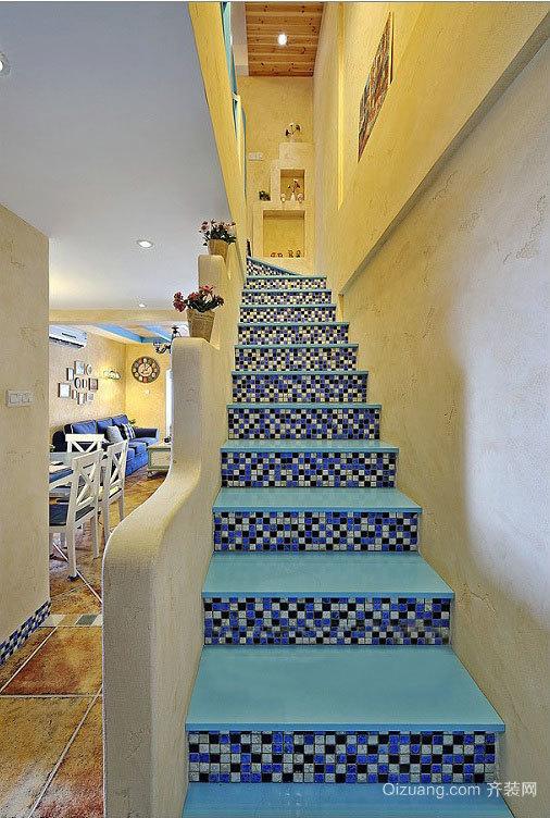让人迷恋的地中海风格楼梯装修效果图