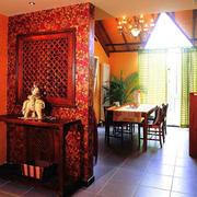 东南亚风格单身公寓餐厅装饰