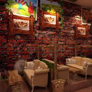 简约风格仿石制咖啡厅背景墙