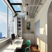 简约风格阳台书房窗户装饰