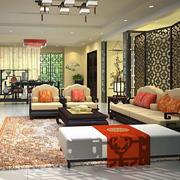 中式复古风格客厅隔断装饰