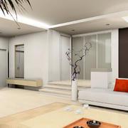 现代简约风格室内客厅沙发装饰