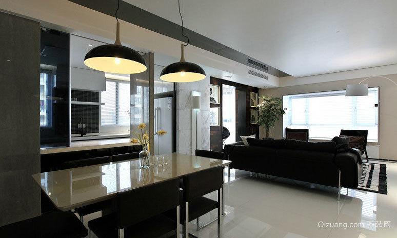 现代大气台式风格三室一厅自住型商品房装修效果图