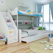 现代简约风格清新儿童房上下铺效果图