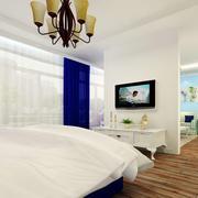 地中海风格简约卧室窗户装饰