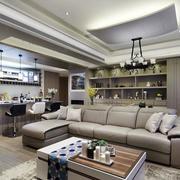 三室两厅简约风格客厅沙发装饰