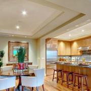 欧式简约风格原木系厨房吊顶装饰