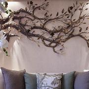 别墅简约风格客厅沙发背景墙装饰
