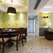 中式风格别墅餐厅背景墙装饰