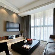 三室一厅后现代风格客厅电视背景墙
