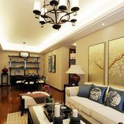 美式简约风格公寓沙发背景墙装饰