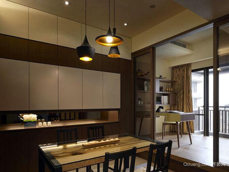 现代日韩混搭风格三室一厅家庭室内装修效果图