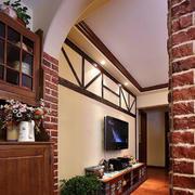 美式简约风格客厅背景墙