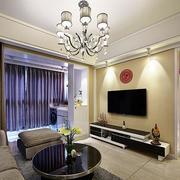 三室一厅现代简约风格吊顶效果图