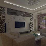 100平米房屋现代简约风格电视背景墙