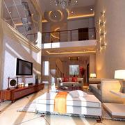 现代简约风格复式楼简约风格电视背景墙