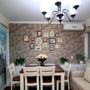 60平米小户型简约餐厅背景墙装饰