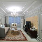两室一厅简约风格客厅吊顶装饰