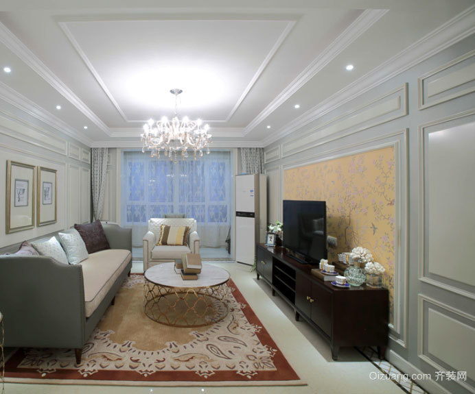 润物无声:欧式新古典风格设计两室复式装修效果图