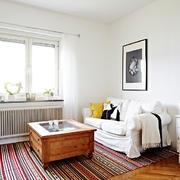 北欧风格白色系简约沙发装饰