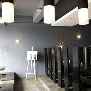 后现代风格料理店创意灯饰装饰
