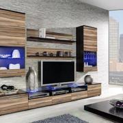 简约风格原木电视柜装饰