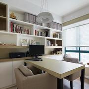 家庭室内简约风格书房效果图