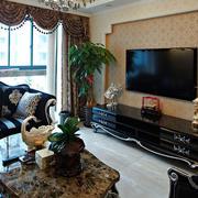 婚房欧式风格客厅电视背景墙装饰