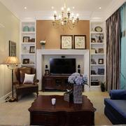 美式风格简约客厅窗户装饰