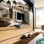 现代简约风格客厅电视柜装饰