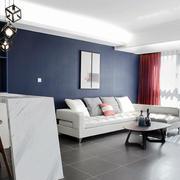 三室两厅简约客厅背景墙装饰
