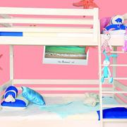 粉色系简约儿童房上下铺效果图