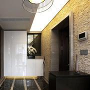 三室一厅简约风格玄关吊顶装饰