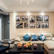 三室一厅简约风格石膏板吊顶装饰