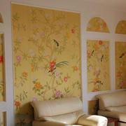 欧式田园风格卧室液体壁纸装饰