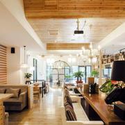 原木浅色咖啡厅装饰