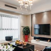 三室一厅简约风格客厅飘窗设计