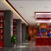 中式简约风格酒柜设计