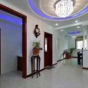 三室一厅玄关盆栽装饰