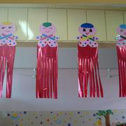 幼儿园简约风格剪纸吊顶装饰