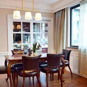 120平米房屋简约风格餐厅灯饰装饰