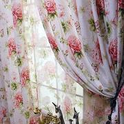 韩式清新飘窗小碎花窗帘装饰