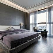 后现代风格新房卧室飘窗装饰