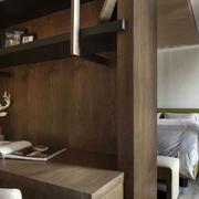 跃层简约风格客厅置物架装饰