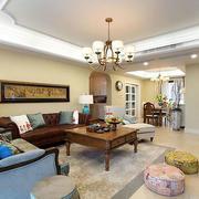 欧式简约风格房屋客厅吊顶设计