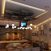 咖啡厅简约风格照片墙装饰